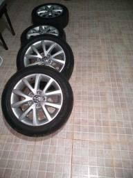Rodas 16 Jetta com pneus bons