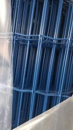 Tela revestida com PVC azul e verde