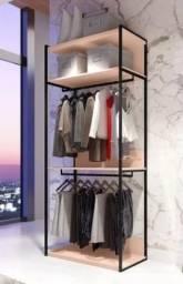 Closet modulado para residencia ou loja de roupas