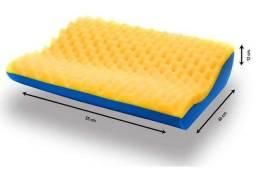 Travesseiro Cervical Anatômico de Espuma Massageador Caixa de Ovo Perfilado