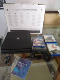 Playstation 4 Pró + 3 jogos