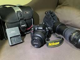 Camera Nikon D3100 + Lentes 55 - 300mm & 18 -55mm e acessórios