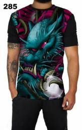 Camiseta estampada dragão