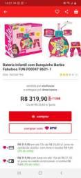 Bateria da barbie infantil, nova