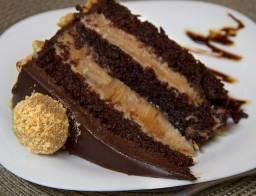 Fatias de bolos-curso