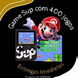 Game Sup retrô portátil com 400 jogos