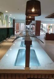 Restauração de borda de piscina em mármore e granito