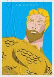Posters Super Heróis Barbudos