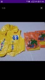 Boia e colete salva vidas infantil
