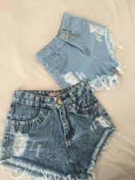 2 shorts jeans novinhos