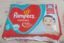 Fralda Pampers supersec Tam. G