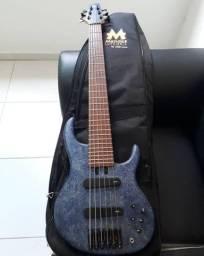 Baixo Mendes Sharp Bass 6 cordas ativo