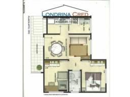 Apartamento para Venda em Rolândia, Centro, 2 dormitórios, 1 banheiro, 1 vaga