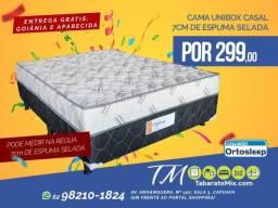 Promoção, Cama Casal 7Cm Espuma Selada! Frete Grátis! Até 6x Sem Juros