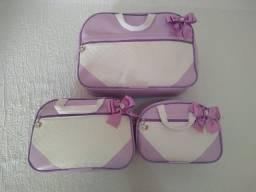 Kit bolsa maternidade lilás
