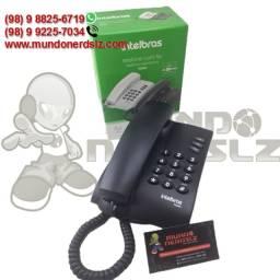 Telefone Com Fio Intelbras Mesa e Parede Preto Pleno em São Luís Ma