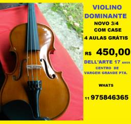 Violino novo dominante ¾ vargem grande pta