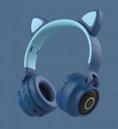 Fone Headphone Bluetooth - Orelhas de Gato
