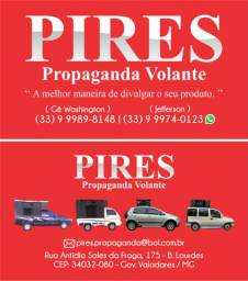 PIRES PROPAGANDA VOLANTE - CARRO DE SOM, PUBLICIDADE VOLANTE GOV. VALADARES