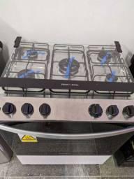 Fogão Brastemp 5 bocas acendimento automático com luz no forno novo