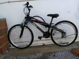 Bicicleta Caloi Trs - Aro 26 - 21 Marchas - Suspensão Dianteira - Preto<br><br>