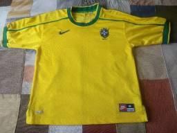 Camisa seleção brasileira 1998 nike
