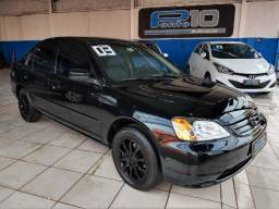 Honda - Civic LX 1.7 Completo Couro Rodas Impecável