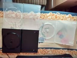 Promoção de estojos para DVD ou CD, compre 10 e pague 8