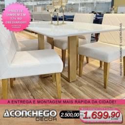 Conjunto de mesa 4 cadeiras em madeira maciça Promoção!!