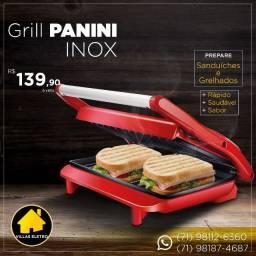 Grill Lenoxx Panini Retangular 850W - Antiaderente