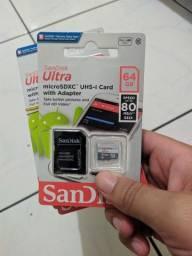 Cartão de memória 64 gb