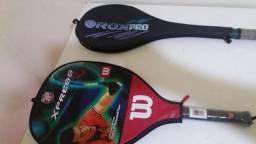Raquetes de tenis e squach
