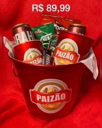 Presente para dia dos pais - balde de cerveja - caneca de time