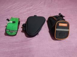 Título do anúncio: Duas bolsa de celim uma bolsa de quadro de bike