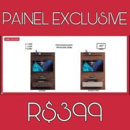 Painel com porta basculante para tv 49