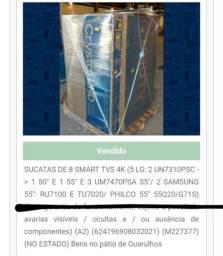 Lote com 8 TVS LG E SAMSUNG - SMART - 4K
