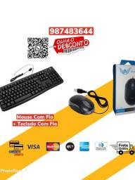 *Combo* Mouse Com Fio + Teclado Com Fio Original