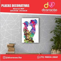 Placas Decorativas Personalizadas dia das mães