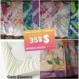 35$ kit lençol elástico+ 2 fronhas *