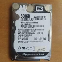 hd 500gb WD Scorpio Black novo