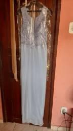 Vendo vestido longo azul