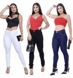 Calças jeans lycra feminina_varejo e atacado entrega a domicílio Jp e região