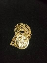 Medalhao sao jorge folhado ouro 18