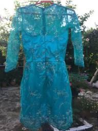 Vestido de festa bordado, tamanho P