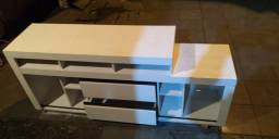 rack de chão para TV branco de MDF