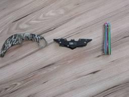 Facas. Karambit, Canivete e Butterfly