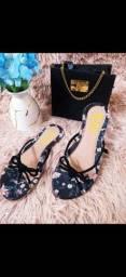 Kit sandália e bolsa