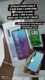 Telefone Xiaomi Redmi Note 8 Lacrado