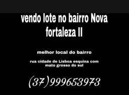 Vendo lote de esquina bairro Nova fortaleza II