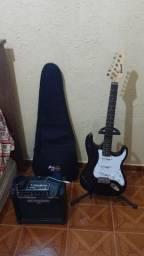 Kit guitarra e caixa